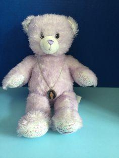 Build A Bear I Carly Purple Bear with Necklace   eBay