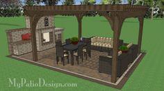 16' x 16' Cedar Pergola Design #1