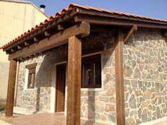 Casas rústicas por MODULAR HOME Stucco And Stone Exterior, Western Homes, Patio Roof, Modular Homes, Pergola Plans, Natural Life, Outdoor Structures, Cabin, House Styles
