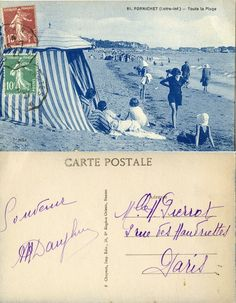 Pornichet - Toute la Plage - 1927 (from http://mercipourlacarte.com/picture?/91) F. Chapeau, Imp. Edit., Nantes