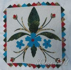 Challenge miniature quilt with prairie points. has the feel of a fleur de lis. Prairie Points, Miniature Quilts, Mini Quilts, Big Shot, Quilting Ideas, Stampin Up, Card Ideas, Challenge, Miniatures