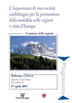 EDUC European Committee of Regions  Bolzano 15-17 Aprile 2007