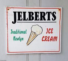 'JELBERTS TRADITIONAL NEWLYN ICE CREAM'   Cornwall     ✫ღ⊰n