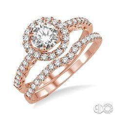 Mesa Jewelers - 1 Ctw Diamond Wedding Set in 14k Pink Gold, $3,339.00 (http://www.mesajewelers.com/1-ctw-diamond-wedding-set-in-14k-pink-gold/)