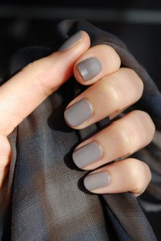Grey mani #nails #manicure