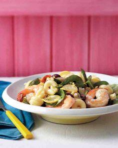 Summer Pasta Salad with Shrimp
