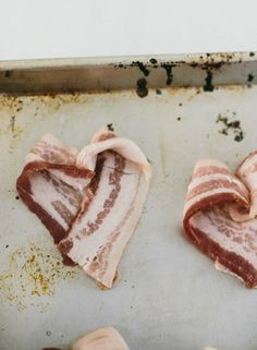 Heart-shaped bacon: the smallest detail can speak volumes to a significant other. Inspired by the movie Burnt in theaters October 30th!