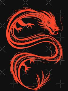 Red Chinese Dragon, Red Dragon, Painted Garden Rocks, Traditional Chinese, Cool Tattoos, Stencils, Drawings, Artist, Christmas