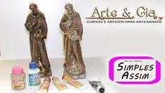 São Francisco de Assis em gesso -  Ivana Sampaio, Arte & Cia