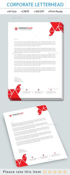 Corporate Letterhead Vol  Letterhead Letterhead Template And