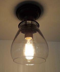 Vintage Mason Pint Jar Ceiling Light Trio 129 00 Via