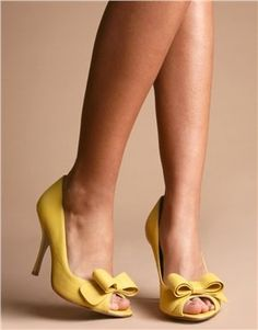 Delightful Not Crazy About The Bow Looking Thing On The Top, But Weu0027ll See! | Mellow  Yellow..... | Pinterest | Wedding Heels, Yellow Weddings Au2026