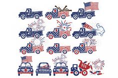 of July Truck svg files in svg, dxf, eps, jpg and png for Silhouette, Cricut and other machines. Patriotic Crafts, Patriotic Decorations, Fourth Of July Shirts, 4th Of July, Cricut Vinyl, Svg Files For Cricut, Silhouette Cameo Projects, Cricut Creations, Design Bundles