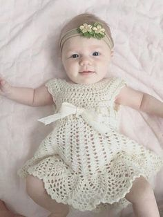 Sophia Heirloom Dress Crochet Pattern Newborn to 3 months Baptism Blessing Baby Gift Beautiful Baby Dress Newborn Crochet Patterns, Crochet Baby Dress Pattern, Baby Girl Crochet, Crochet Baby Clothes, Baby Patterns, Crochet Dresses, Dress Patterns, Baby Girl Sweaters, Baby Knitting