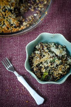 Wild Rice Gratin with Kale, Caramelized Onions, and Baby Swiss [pg. 149 of smitten cookbook]