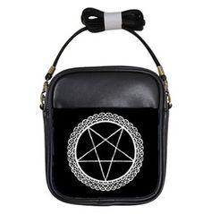 Lace Pentagram Shoulder Sling Purse