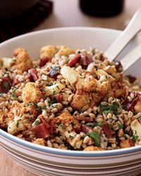 Farro Salad with Fried Cauliflower and Prosciutto - Fantastic Farro, Couscous and Quinoa Recipes from Food & Wine