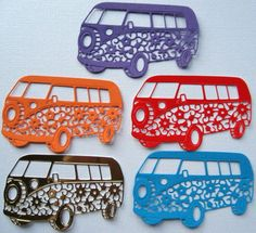 Custom die cut shapes - VW camper van - your choice of card & colour