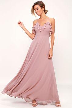 47c9a3dff320 Metropolitan Mauve Ruffled Maxi Dress · Bridesmaid Dresses OnlineRuffles Bridesmaid  DressesAffordable Bridesmaid DressesBeach Wedding GuestsMauve ...
