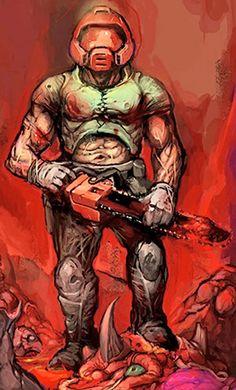 Unnamed marine - Doomguy - The DooM Marine - Character Profile