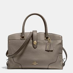 Coach is a New York modern luxury brand established in 1941. Coach brings sophistication, authenticity and timeless style to its womens and mens lifestyle collections. Find out more about MERCER SATCHEL IN GRAIN LEATHER at Coach.com.