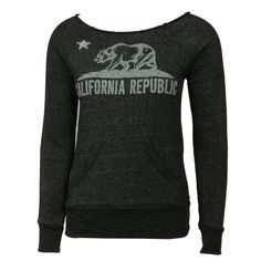 Alternative Earth Womens Sweatshirt Big Bear Republic Black #california #californiabear