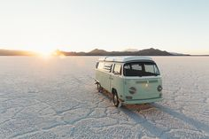 Sunset at the Salt Flats in our adventure mobile by Braden Olsen #xemtvhay