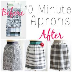 DIY:: How Cute Are These- out of Dish Towels ?? For Yourself or Great Basic No Cost Gift ! 10 Minute Dish Towel Aprons !
