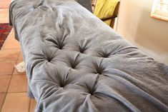 DIY Button Tufted Headboard | Involving the Senses