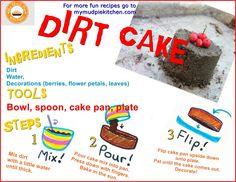 Dirt Cake Recipe Card