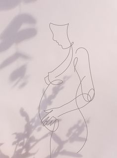 One for women - a line illustration by Cabin Creative representing pregnancy Pregnancy Announcement, Pregnancy Trimesters Pregnancy Drawing, Pregnancy Art, Pregnancy Timeline, Pregnancy Clothes, Pregnancy Pillow, Early Pregnancy, Pregnancy Outfits, Line Drawing, Painting & Drawing