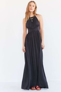Silence + Noise Goddess Knit Maxi Dress - Urban Outfitters