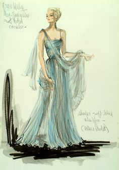 "Designed  by Edith Head for Grace Kelly in the  1955 Alfred Hitchcock movie ""To Catch a Thief."""