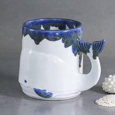 Whale mug handmade Ceramic Coffee mug Nautical Beach Decor image 1
