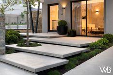 Single & Double Storey Home Designs Perth, WA Entrance Design, House Entrance, Modern Landscaping, Backyard Landscaping, Exterior Stairs, House Landscape, Dream House Exterior, Yard Design, Facade House