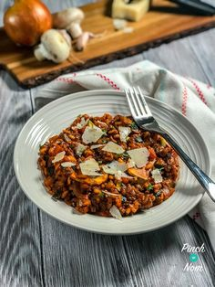 Bolognese Risotto - Pinch Of Nom - Syn Free Bolognese Risotto Lasagne Recipes, Risotto Recipes, Slimming World Bolognese, Slimming World Speed Food, Low Carb Brasil, Cooking Recipes, Healthy Recipes, Healthy Dinners, Batch Cooking