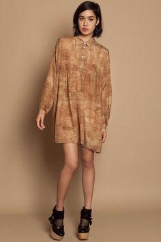 Opening Ceremony Oversized Shirt Dress - Cork -
