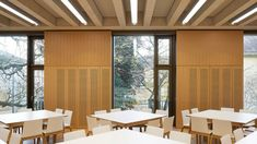 Stanton Williams has completed a four-storey addition to a business school at the University of Cambridge which adjoins to an existing historic building. Stanton Williams, Cambridge University, Dezeen, Business School, Contemporary, Architecture, Building, Furniture, Home Decor