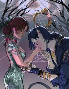 """Prince Cardan and Jude from Holly Black's """"The Cruel Prince. Book Characters, Fantasy Characters, Character Inspiration, Character Art, Holly Black Books, Fantasy Couples, Hades And Persephone, Fanart, Book Nerd"""