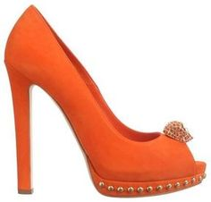 ShopStyle: Two-Faced Skull Peep-Toe