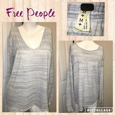 Listing Free People Oversized Sweater Measurements are in photos. Normal wash wear, no flaws Free People Sweaters V-Necks