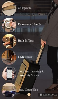 Barracuda: Collapsible Luggage + Tray + GPS + USB Charger by Barracuda — Kickstarter