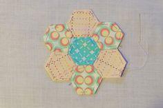 Hexagon Patchwork Fabric CoastersMade Peachy
