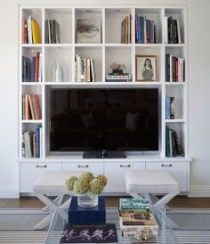 built-ins around tv.