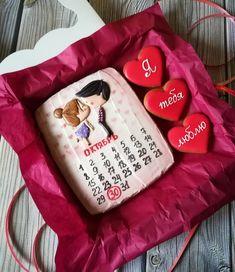 Fancy Cookies, Valentine Cookies, Cute Cookies, Sugar Cookies, Icebox Cookies, Sunshine Birthday, Paint Cookies, Valentines Day Food, Unique Birthday Gifts