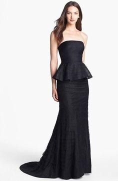 Black tie affair: Adrianna Papell Peplum Gown