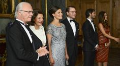 misshonoriaglossop:  King Carl Gustaf, Queen Silvia, Crown Princess Victoria (whose second pregnancy was announced today), Prince Daniel, Prince Carl Philip, Princess Sofia, September 4, 2015