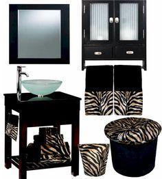 Zebra themed bathroom ideas