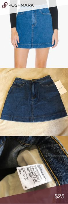 American Apparel - Easy Denim A Line Skirt Easy Denim A Line Skirt // Color: Dark Wash Indigo // Size: Small // Brand new with tags and never worn! Still in perfect condition. American Apparel Skirts A-Line or Full