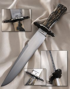 Elite Knives coffin handle bowie knife with mammoth ivory handle scales